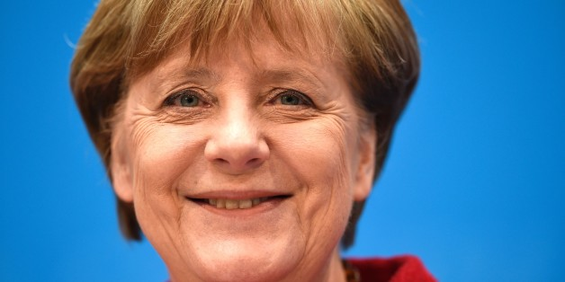 German Chancellor and head of the Christian Democratic Union (CDU) Angela Merkel smiles at a press conference at CDU's headquarters in Berlin, on March 14, 2016 a day after election in three regional states. 