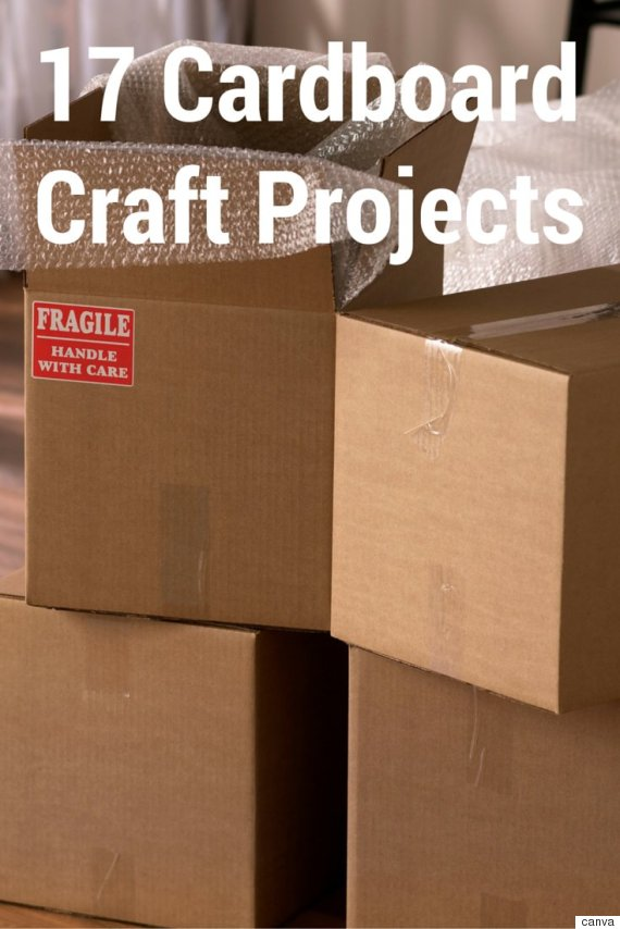 17 Cardboard Crafts That Aren T For Kids Huffpost Canada
