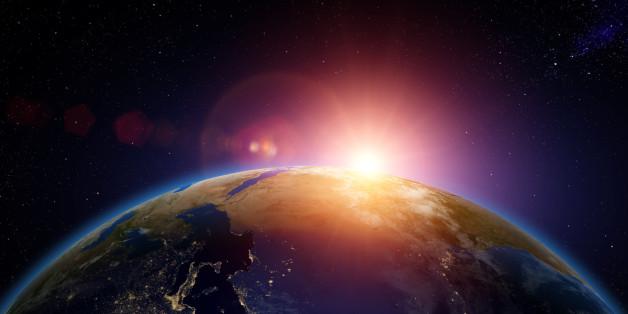 Wenn man aus dem Weltall auf unsere Erde schaut - ein schöner Anblick