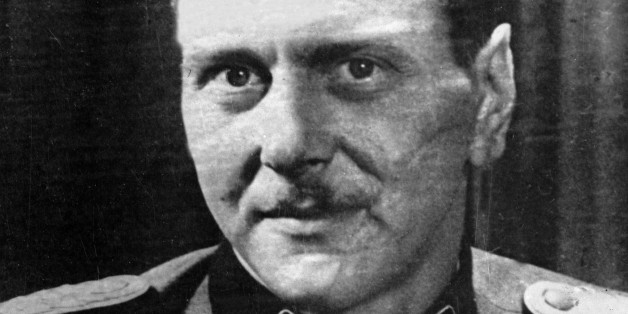 Otto Skorzeny, German officer of the armed SS and of the security service, who led the exploit of the liberation of the Italian leader  Il Duce, is seen in this undated photo. (AP Photo/- undated -)