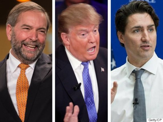 mulcair trump trudeau