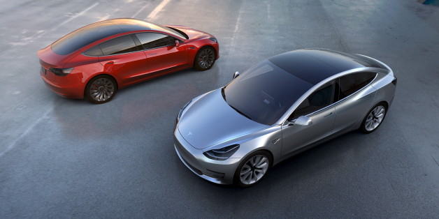 Tesla Motors' mass-market Model 3 electric cars are seen in this handout picture from Tesla Motors on March 31, 2016. REUTERS/Tesla Motors/Handout via ReutersATTENTION EDITORS - THIS PICTURE WAS PROVIDED BY A THIRD PARTY. REUTERS IS UNABLE TO INDEPENDENTLY VERIFY THE AUTHENTICITY, CONTENT, LOCATION OR DATE OF THIS IMAGE. IT IS DISTRIBUTED EXACTLY AS RECEIVED BY REUTERS, AS A SERVICE TO CLIENTS. FOR EDITORIAL USE ONLY. NOT FOR SALE FOR MARKETING OR ADVERTISING CAMPAIGNS. NO RESALES. NO ARCHIVE.