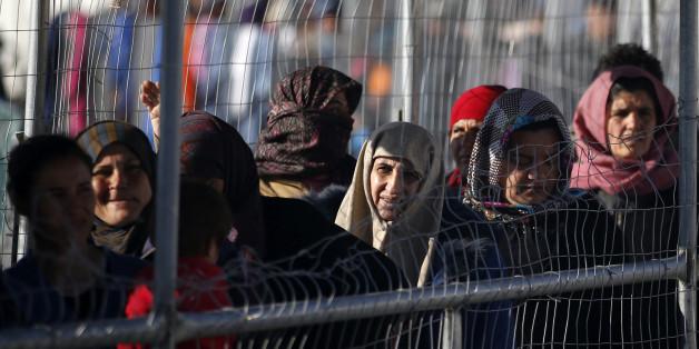 Flüchtlinge im griechischen Lager Idomeni.