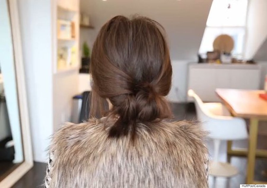 diy low bun