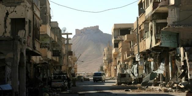 Une rue de Palmyre en Syrie, le 31 mars 2016