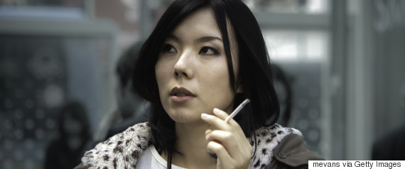 smoking woman japan