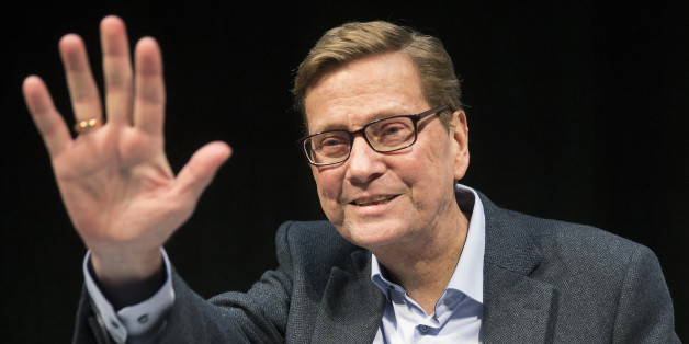 "Former German foreign minister and former FDP chairman Guido Westerwelle gestures during the presentation of his new book ""Zwischen zwei Leben"" (Between two lives) at the Berliner Ensemble theatre in Berlin, Germany, November 8, 2015. In the book Westerwelle writes about his life with blood cancer.  REUTERS/Hannibal Hanschke"