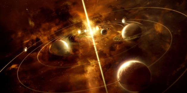 Das Sonnensystem in einer Illustration