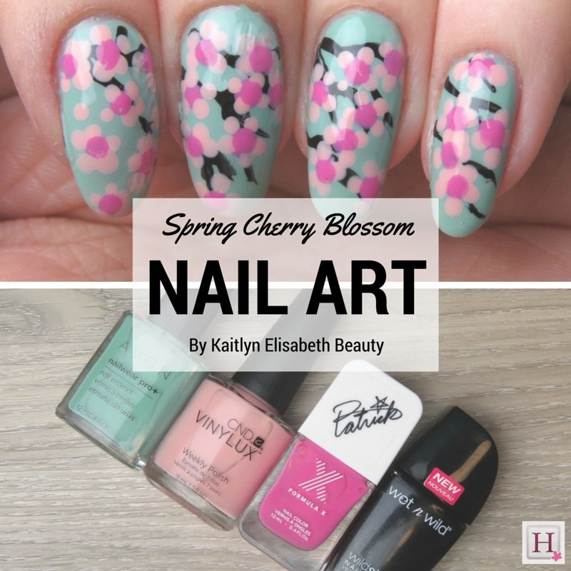 Spring Nail Art Try This Easy Cherry Blossom Design