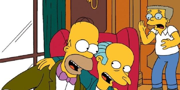 Die Simpsons: Smithers sieht Homer mit Mr. Burns - ein Schock.