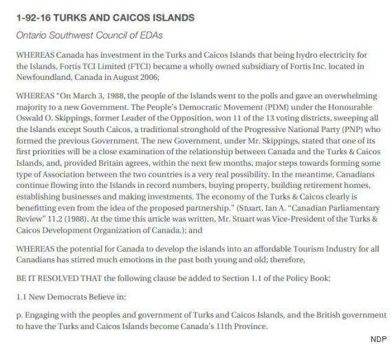 turks and caicos resolution