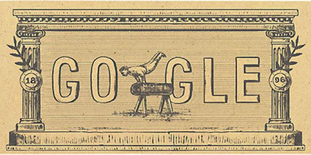 Das Google Doodle am 6. April erinnert an die ersten Olympischen Spiele