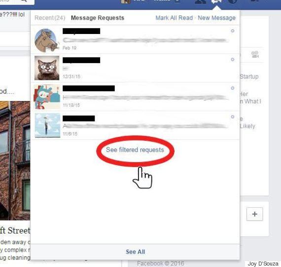 facebook filtered folder