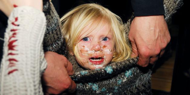 weinendes verschmiertes Kind