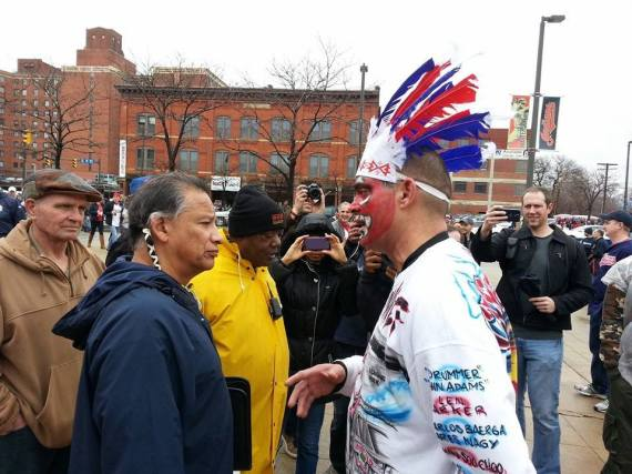 cleveland indians mascot protest