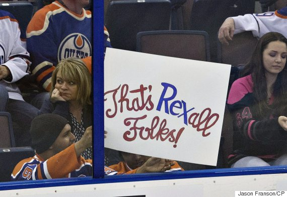 rexall place sign