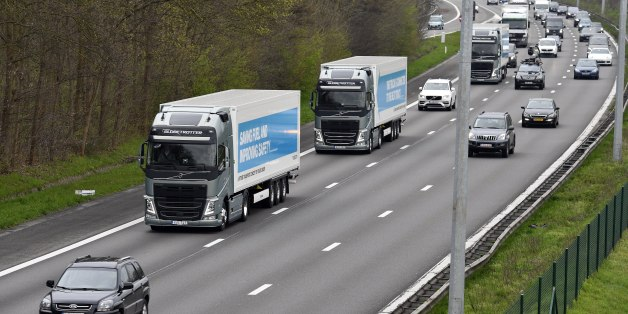 Première expérimentation d'un convoi de camions autonomes sur les routes européennes