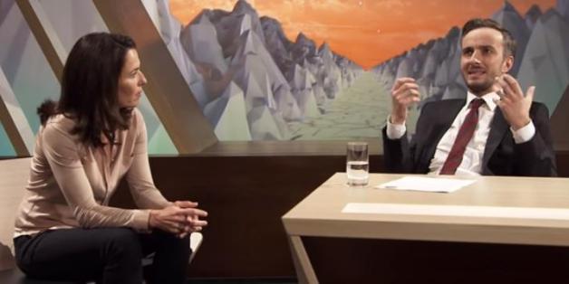 """Anne Will und Jan Böhmermann bei """"ZDF Neo Royal"""""""