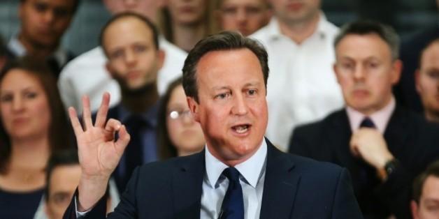 Le Premier ministre britannique David Cameron à Birmingham le 5 avril 2016