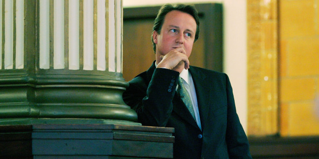 Contender for leadership of Britain's opposition Conservative party David Cameron waits to make his keynote speech at the annual party conference in Blackpool in northern England October 4, 2005. REUTERS/Ian Hodgson