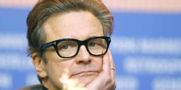 Actor Colin Firth attends a news conference to promote the movie 'Genius' at the 66th Berlinale International Film Festival in Berlin, Germany February 16, 2016.    REUTERS/Hannibal Hansche
