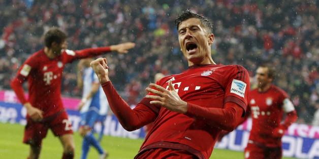 Robert Lewandowski soll am 29. Spieltag für den FC Bayern München auflaufen - und er will sicher wieder jubeln wollen