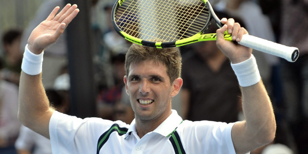 L'Argentin Federico Delbonis, vainqueur du Grand Prix Hassan II de tennis