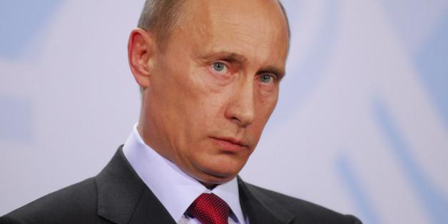Der russische Präsident Wladimir Putin bei einer Pressekonferenz in Berlin