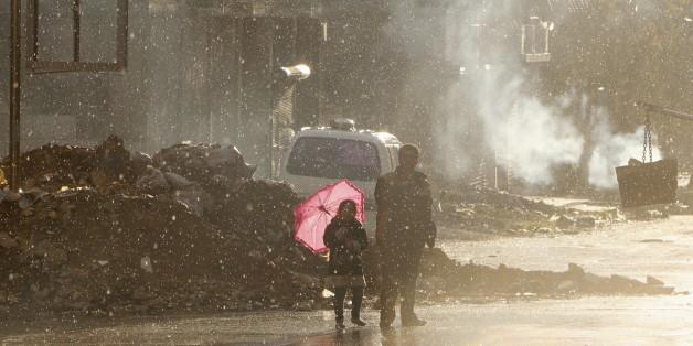 Der von Rebellen kontrollierte Seif al-Dawla Distrikt in Aleppo.