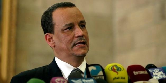 Le médiateur de l'ONU au Yémen Ismail Ould Cheikh Ahmed, à Sanaa le 14 janvier 2016