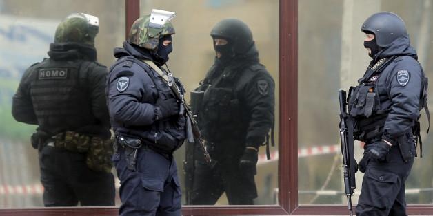 Russische Polizeioffiziere (Symbolbild)