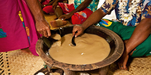 In Fiji, kava is part of the fabric of life, drunk day or night, at home or in the village hall. The consumption of the drink is a form of welcome and figures in important socio -political events. Both sexes drink kava, with women consuming the beverage more than men. The importance of kava in Fiji is not so much in the physical as it is psychological, serving as a forum where stories are told and jokes bantered. Part of this communal aspect is its role in conflict resolution, functioning as a peace pipe between quarrelling groups.
