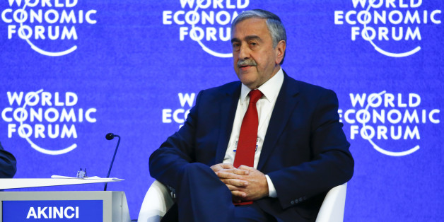 Turkish Cypriot leader Mustafa Akinci attends the session 'Reuniting Cyprus' at the annual meeting of the World Economic Forum (WEF) in Davos, Switzerland January 21, 2016. REUTERS/Ruben Sprich