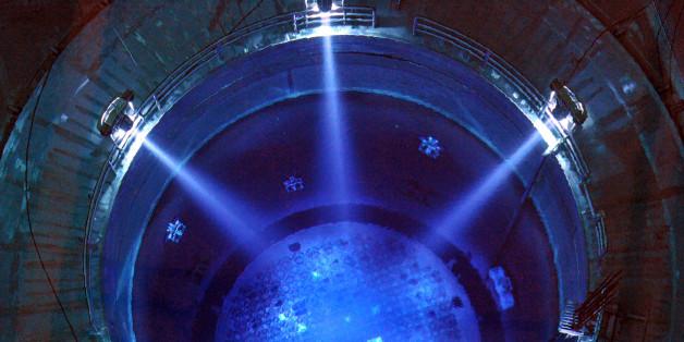 Blick auf den Reaktor eines deutschen Atomkraftwerks