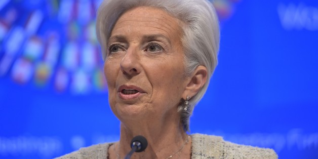 International Monetary Fund Managing Director Christine Lagarde speaks during a press conference during the 2016 International Monetary Fund, World Bank Spring Meetings at IMF headquarters on April 14, 2016. / AFP / MANDEL NGAN        (Photo credit should read MANDEL NGAN/AFP/Getty Images)