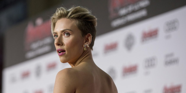 """Cast member Scarlett Johansson poses at the premiere of """"Avengers: Age of Ultron"""" at Dolby theatre in Hollywood, California April 13, 2015. The movie opens in the U.S. on May 1.  REUTERS/Mario Anzuoni"""