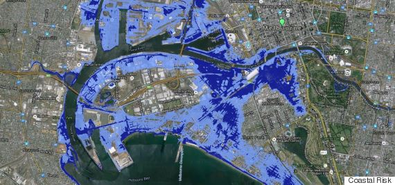 melbourne coastal risk inundaiton