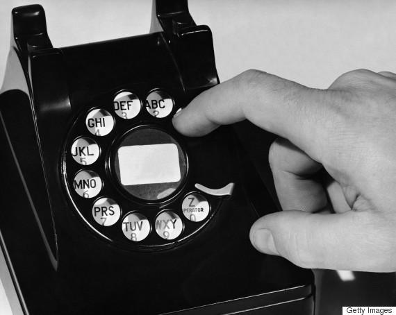 telephone black and white