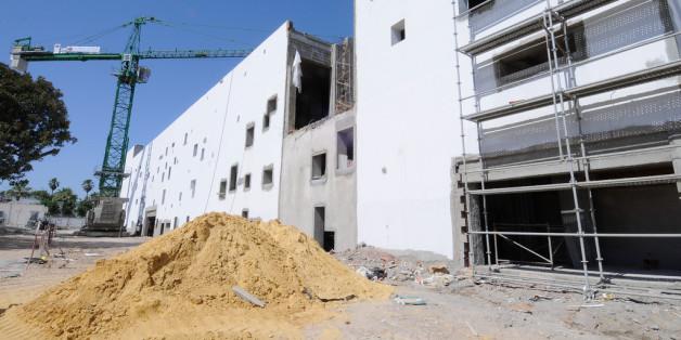 Un chantier de construction dans la banlieue de Tunis.