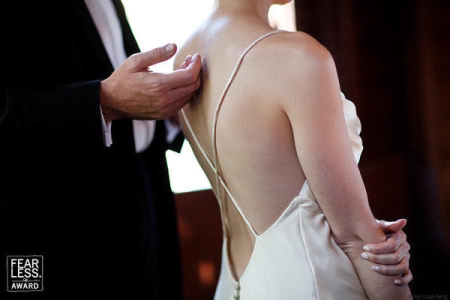 boda novios espalda