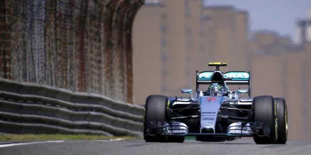 Mercedes-Fahrer Nico Rosberg will im Grand Prix in Shanghai siegen (hier ein Bild vom Training)