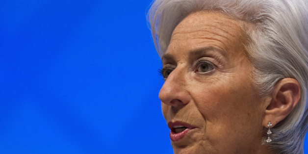 International Monetary Fund (IMF) Managing Director Christine Lagarde speaks at a news conference during the World Bank/IMF Spring Meetings, Thursday, April 14, 2016, at IMF headquarters in Washington. ( AP Photo/Jose Luis Magana)