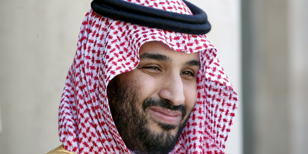 Saudi Arabia's Deputy Crown Prince Mohammed bin Salman reacts upon his arrival at the Elysee Palace in Paris, France in this June 24, 2015 file photo. REUTERS/Charles Platiau/Files