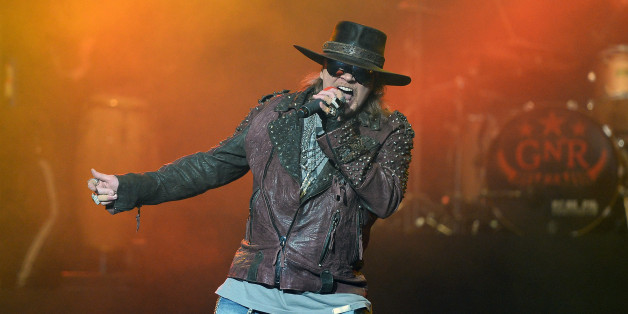 LAS VEGAS, NV - MAY 21:  Singer Axl Rose of Guns N' Roses performs at The Joint inside the Hard Rock Hotel & Casino during the opening night of the band's second residency, 'Guns N' Roses - An Evening of Destruction. No Trickery!' on May 21, 2014 in Las Vegas, Nevada.  (Photo by Ethan Miller/Getty Images)