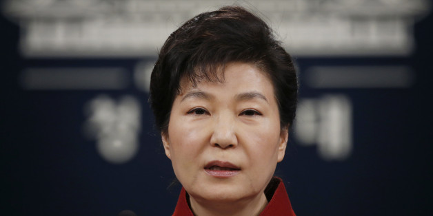 """FILE - In this Jan. 13, 2016, file photo, South Korean President Park Geun-hye addresses the nation during her news conference at the Presidential Blue House in Seoul, South Korea. Upping its rhetoric a notch, North Korea warned Saturday, March 26, 2016, that it will attack Seoul's presidential palace unless it receives an apology from South Korean President Park for """"treason."""" The warning is the latest threat against Washington and Seoul over joint U.S.-South Korean military dril"""