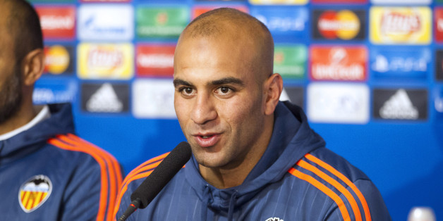 Valencia's player Aymen Abdennour attends a news conference on the eve of their Champions League Group H soccer match against Olympique Lyon in Lyon, France, September 28, 2015.   REUTERS/Emmanuel Foudrot