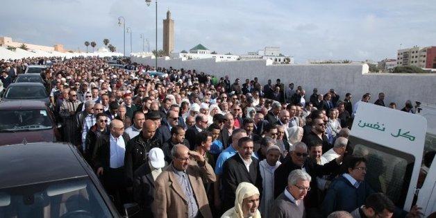 En images, les obsèques de Miloud Chaabi