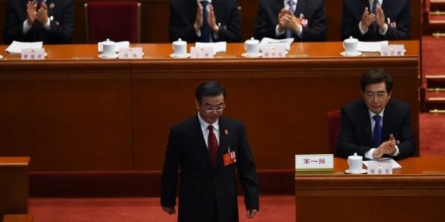 Zhou Qiang, président de la Cour populaire suprême, lors d'une session à Pékin, le 13 mars 2016