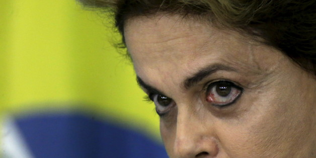 Brazil's President Dilma Rousseff looks on during a news conference at Planalto Palace in Brasilia, Brazil April 18, 2016. REUTERS/Ueslei Marcelino