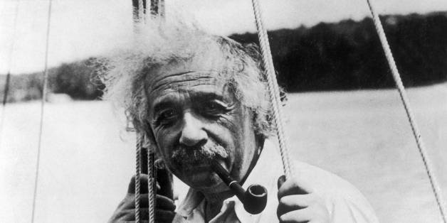 UNSPECIFIED - JANUARY 01:  The German physicist Albert EINSTEIN on his small sailboat while on vacation, around 1950.  (Photo by Keystone-France/Gamma-Keystone via Getty Images)